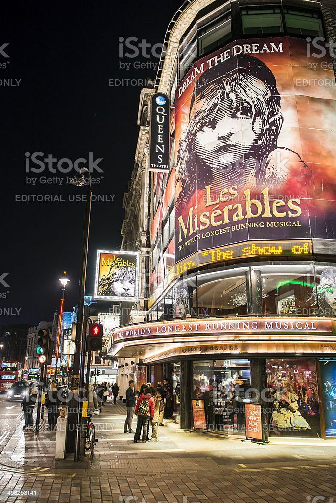 West end musical stock photo