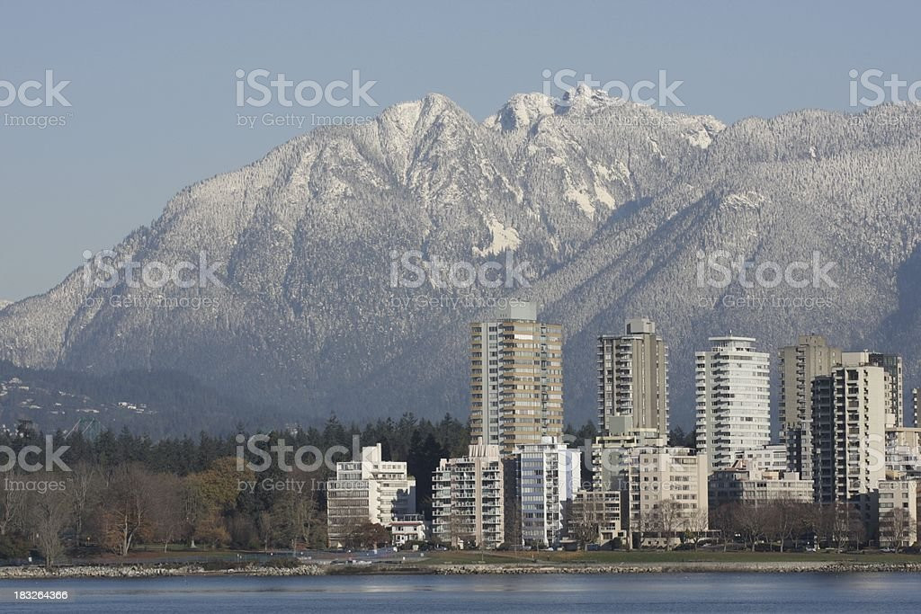 West End of Vancouver in Autumn stock photo