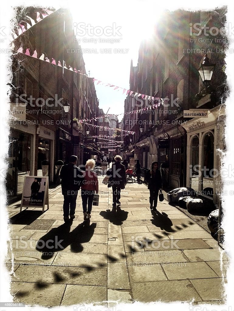 West End Shoppers, London, UK royalty-free stock photo