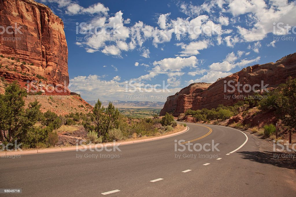 West Entrance of Colorado National Monument stock photo