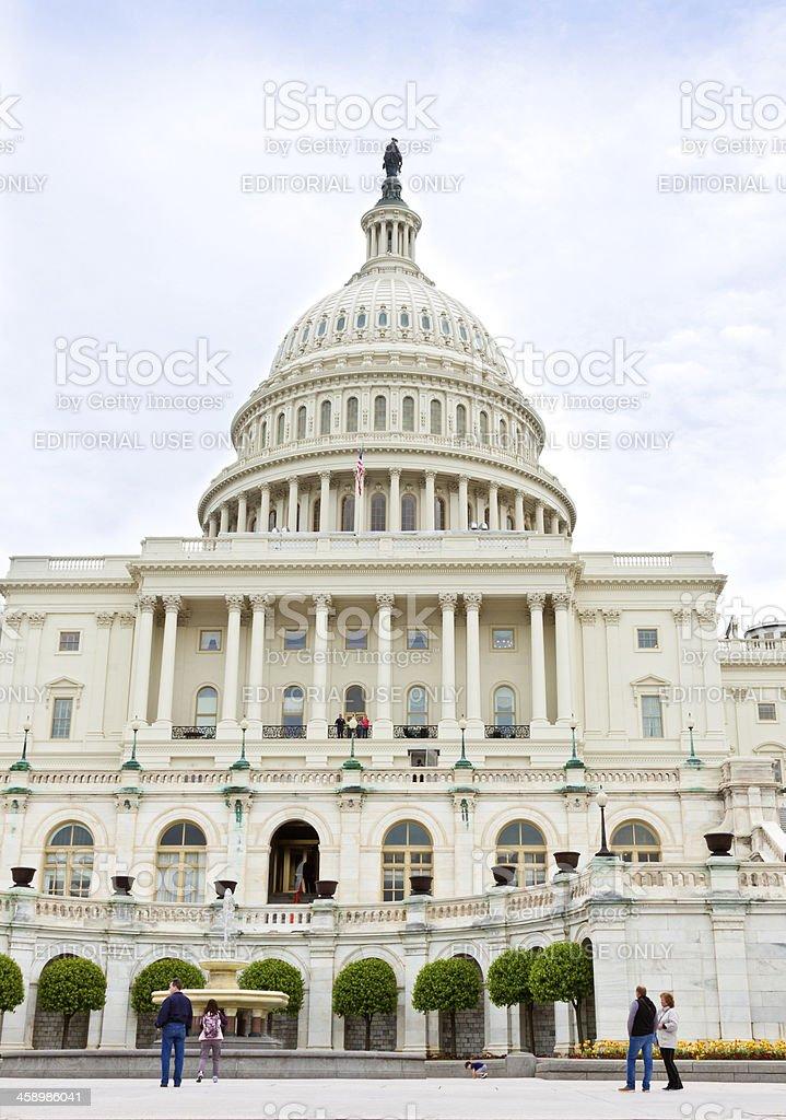 West facade of Capitol Building, Washington DC royalty-free stock photo