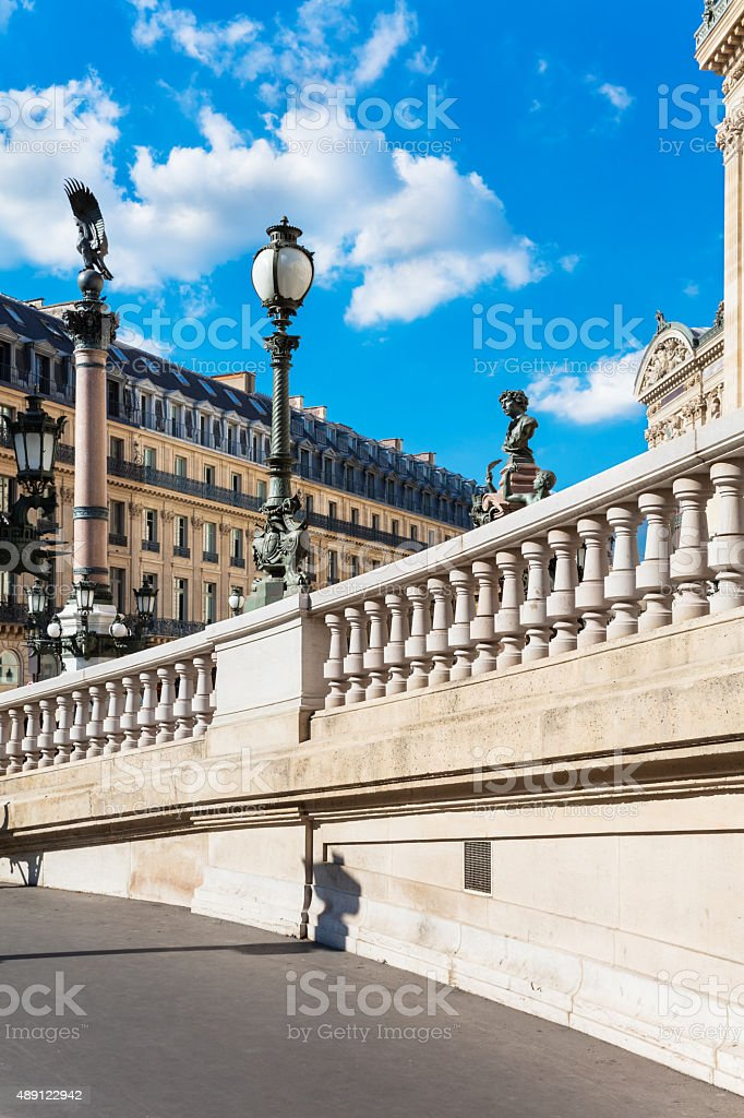 West facade of Grand Opera (Opera Garnier), Paris, France stock photo
