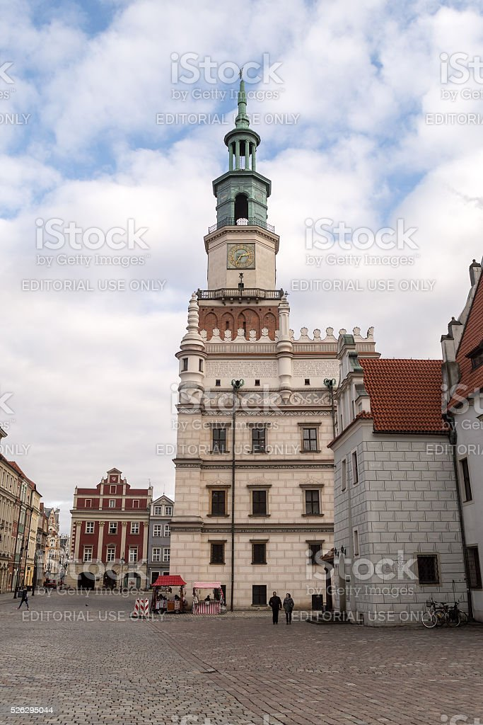 West Facade of Poznan Town Hall stock photo