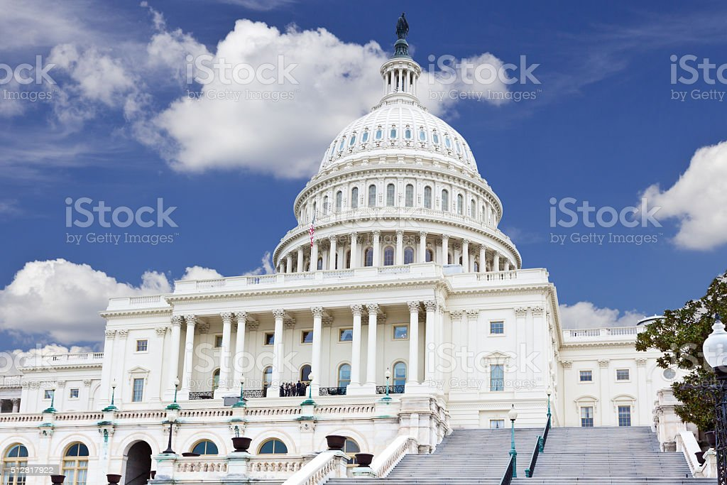 West Facade of the US Capitol Building, Washington DC, USA. stock photo