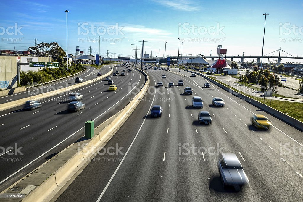 West Gate Freeway stock photo