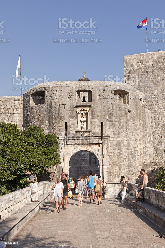 West Gate of Dubrovnik Old city royalty-free stock photo