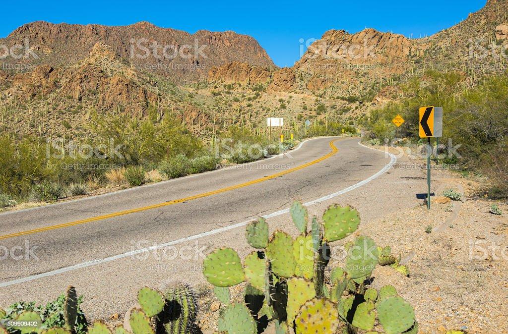 West Gates Pass Road Scenic Route Through the Tucson Mountains stock photo