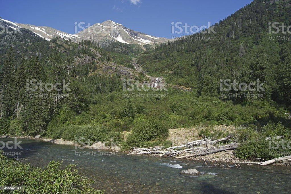 West Glacier Pristine stock photo
