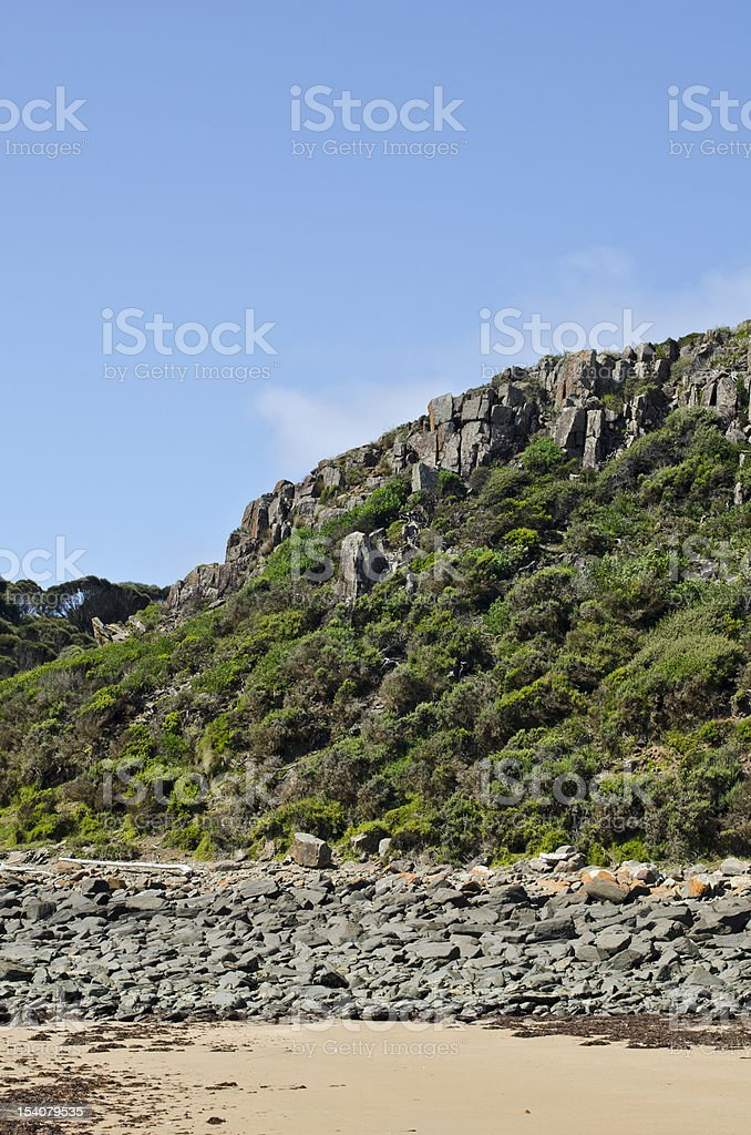 West Head rock formations, Narawntapu National Park,Tasmania stock photo