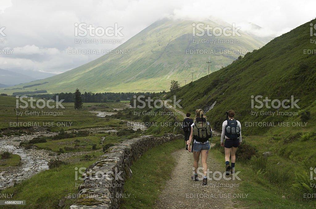 West Highland Way direction sign stock photo