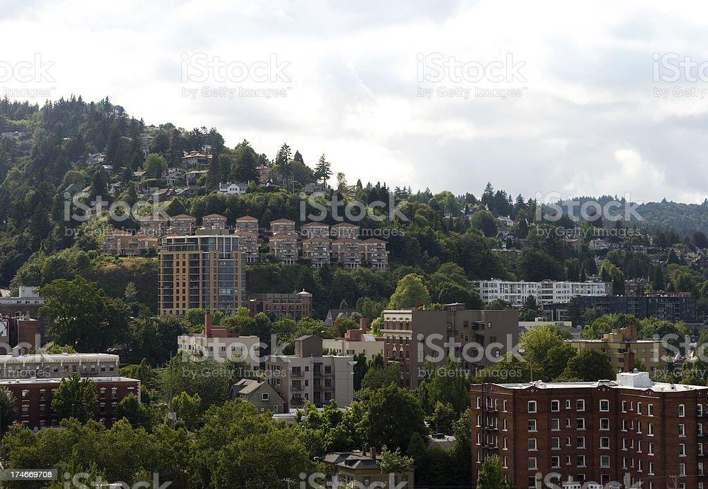 West Hills Portland Oregon stock photo