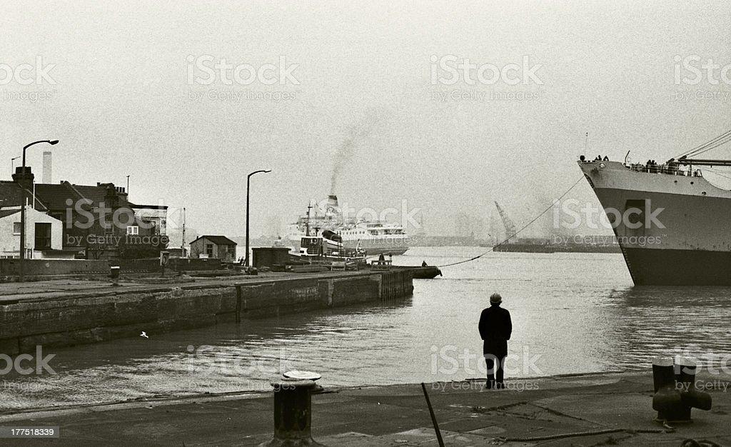 West India Dock, 1979 stock photo