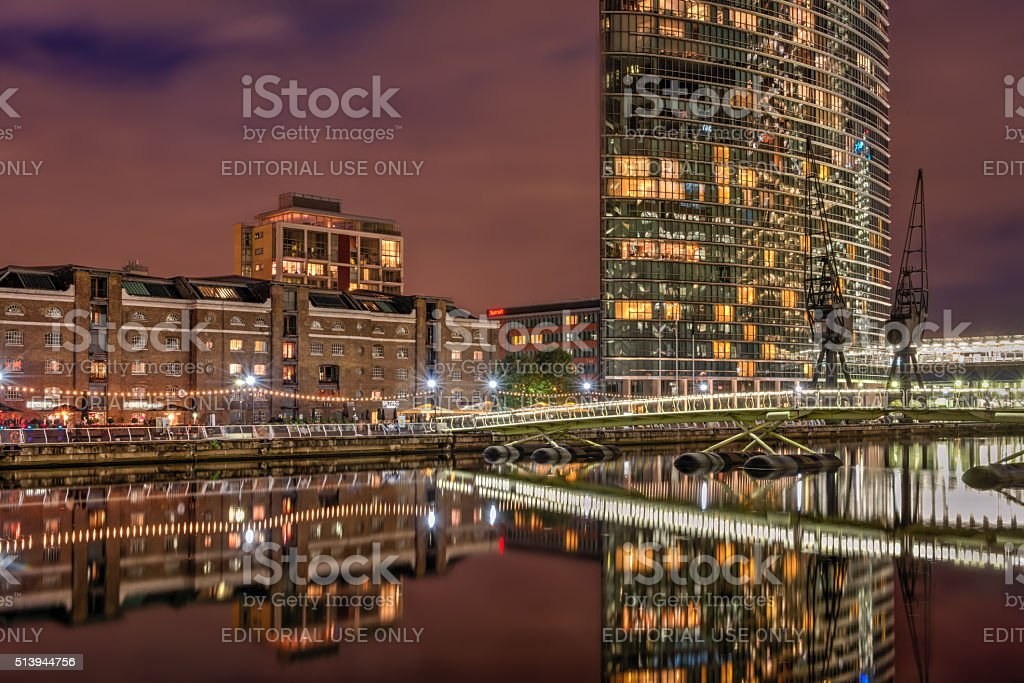 West India Quay in London Docklands stock photo