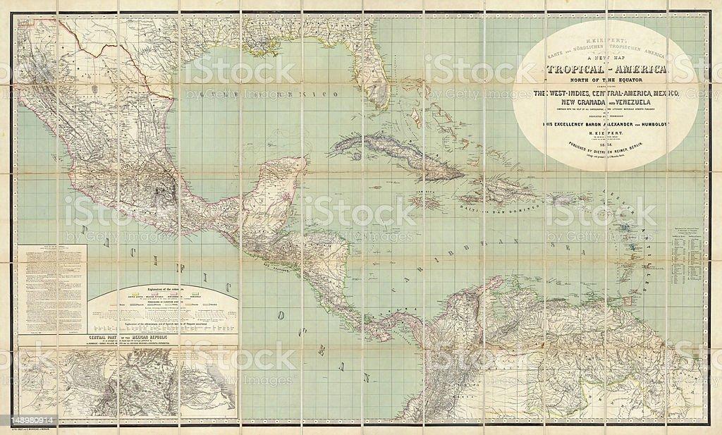 West Indies 1858 stock photo