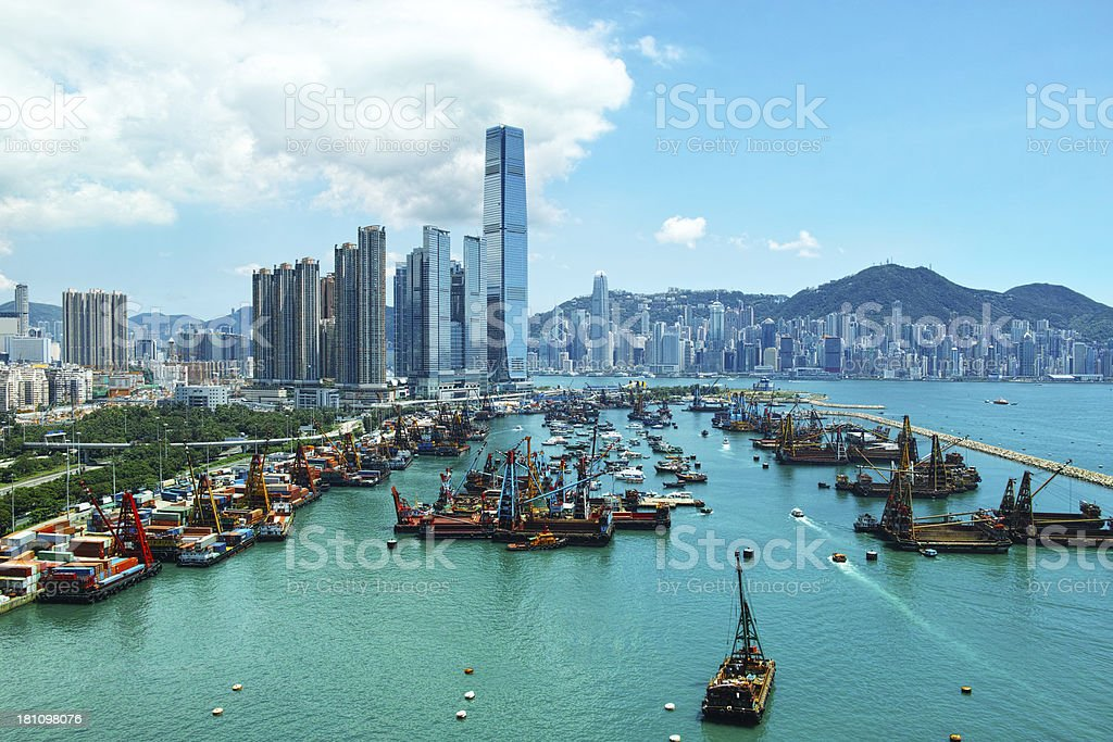 West Kowloon Hong Kong stock photo