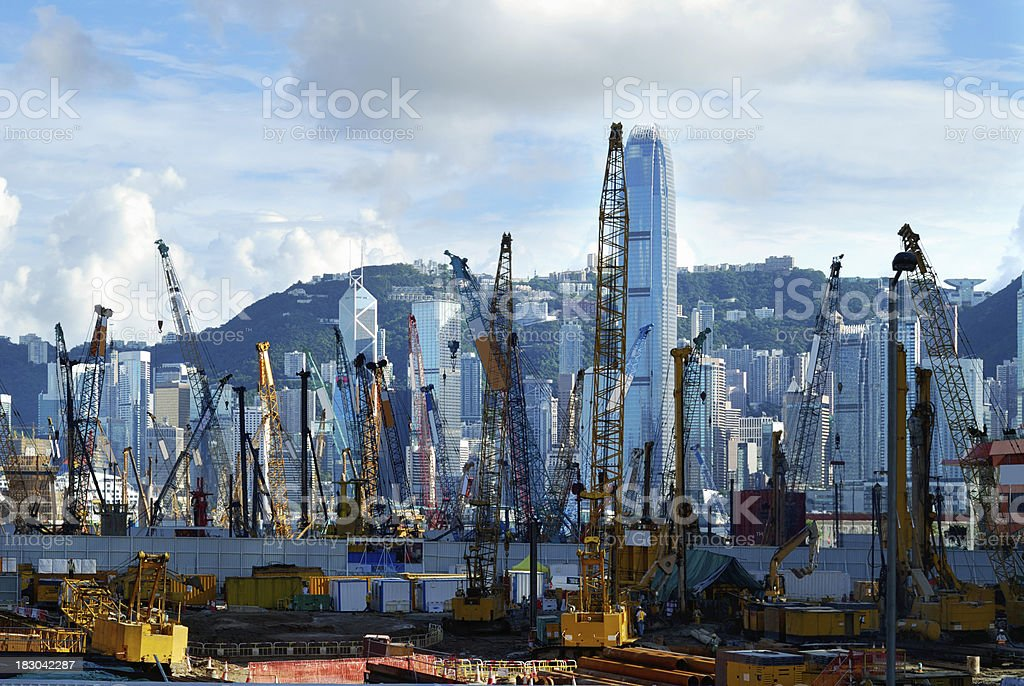 West Kowloon Under Construction in Hong Kong royalty-free stock photo