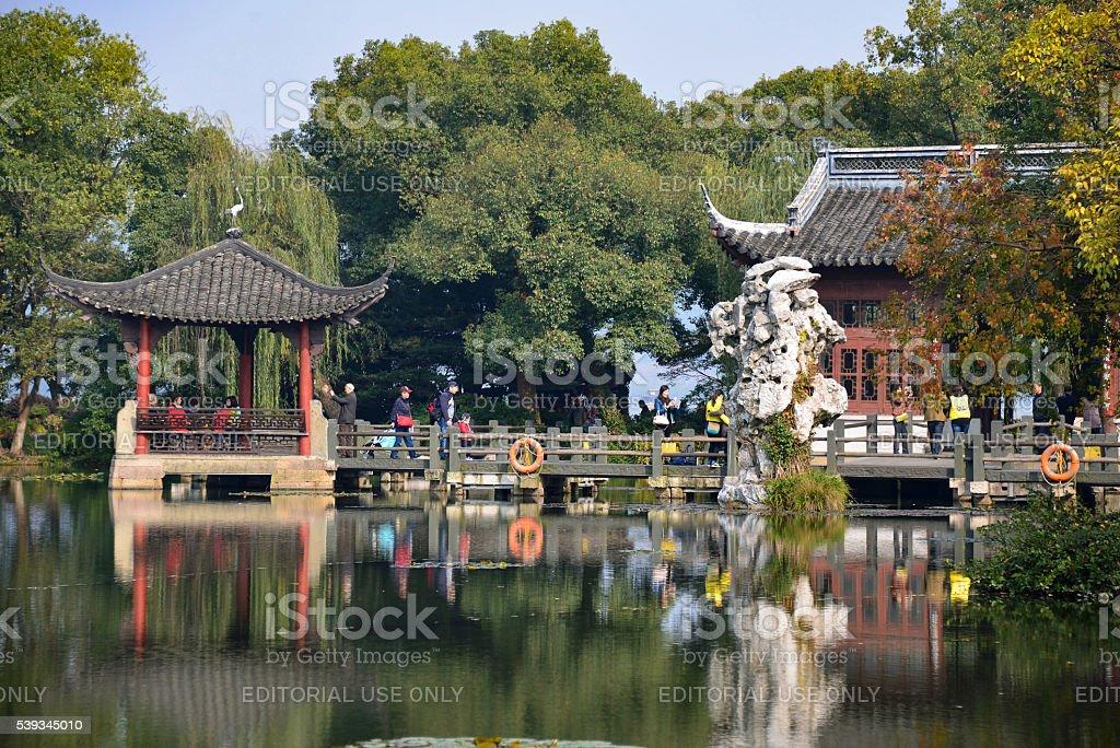 West Lake in Hangzhou, China stock photo