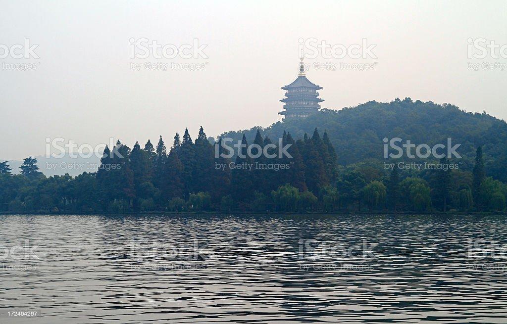West Lake in Hangzhou royalty-free stock photo