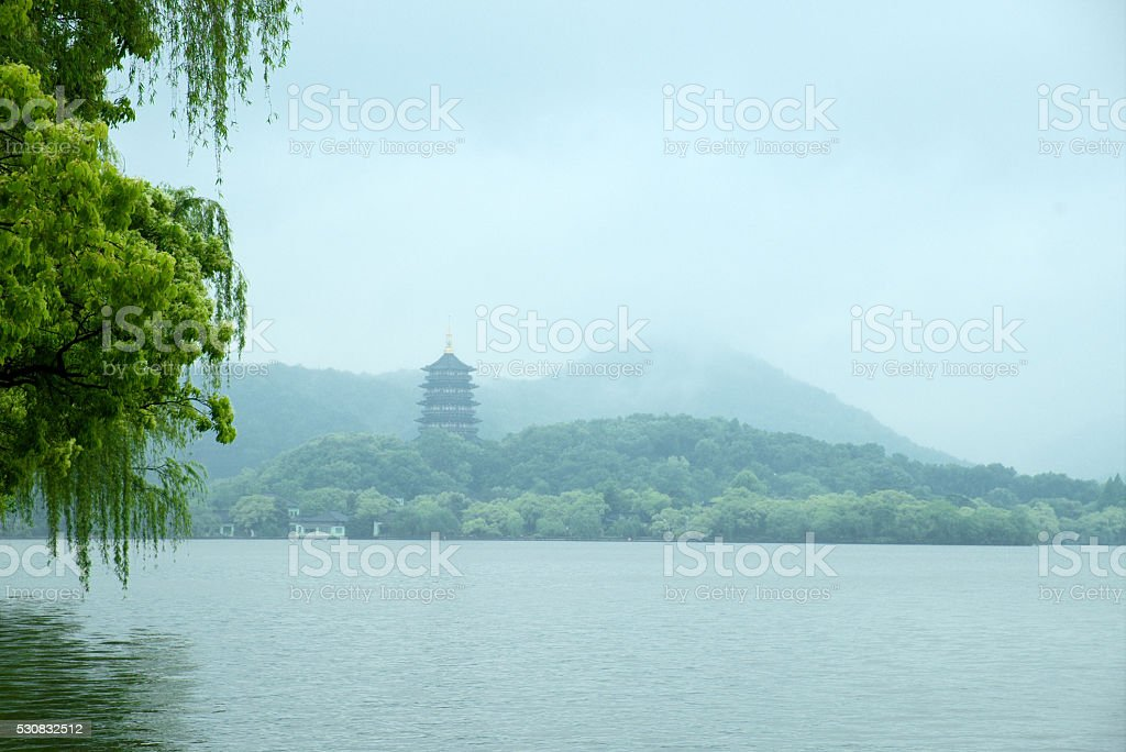 West Lake in spring stock photo