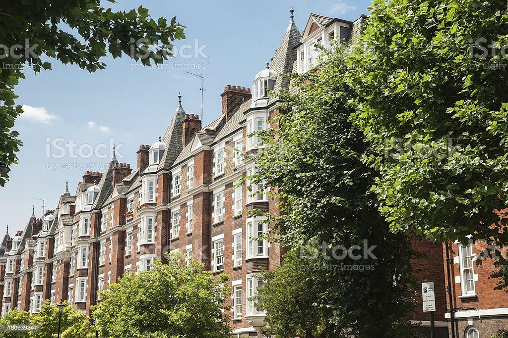 West London apartments. stock photo
