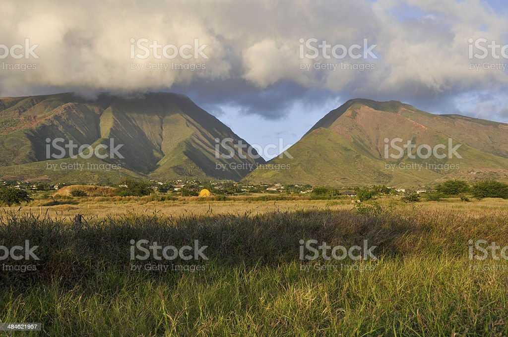 West Maui mountains, Hawaii (USA) stock photo