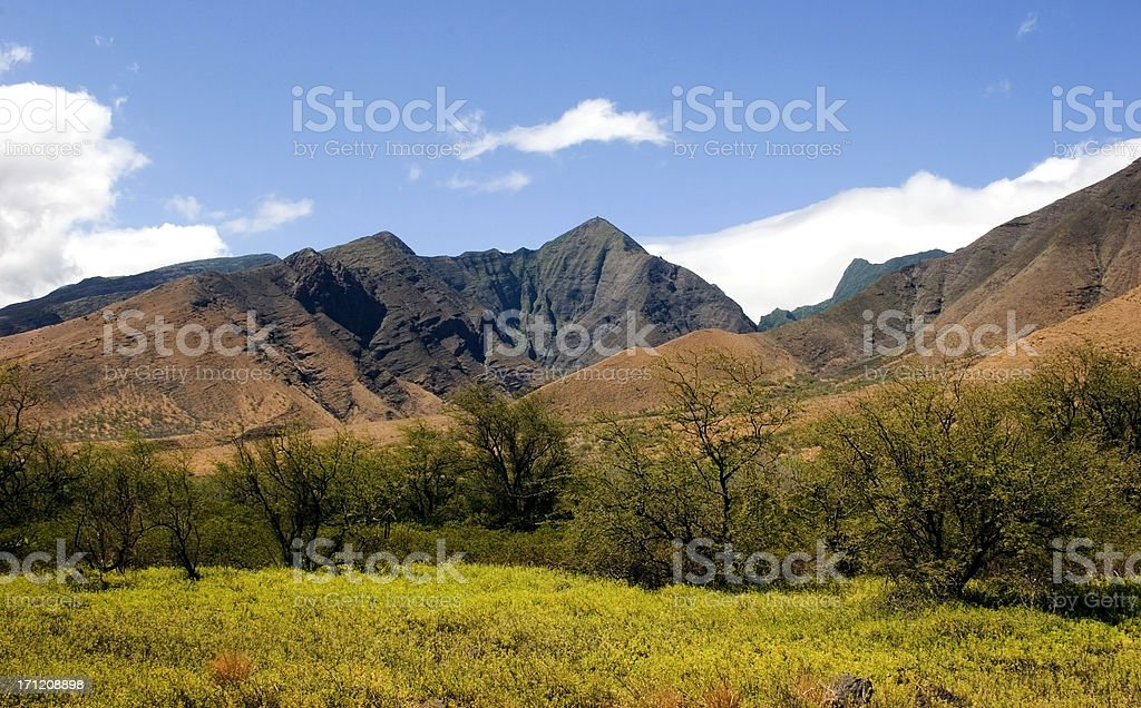 West Maui Mountains royalty-free stock photo