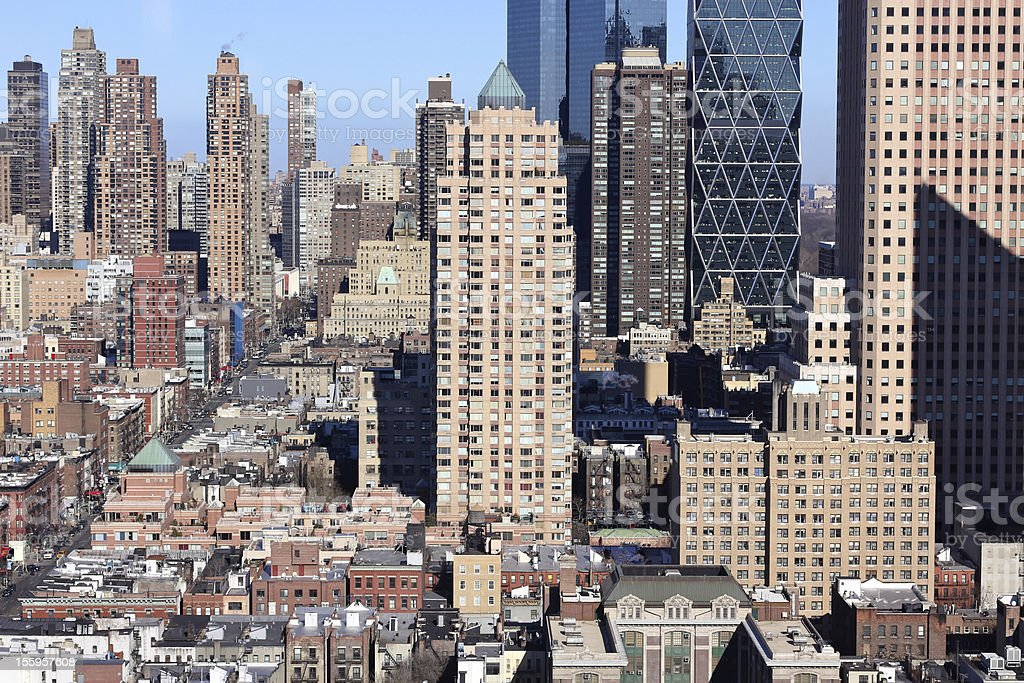West Midtown Manhattan from Hell's Kitchen stock photo