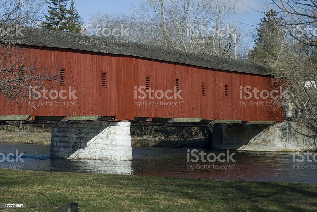 West Montrose Covered Bridge stock photo