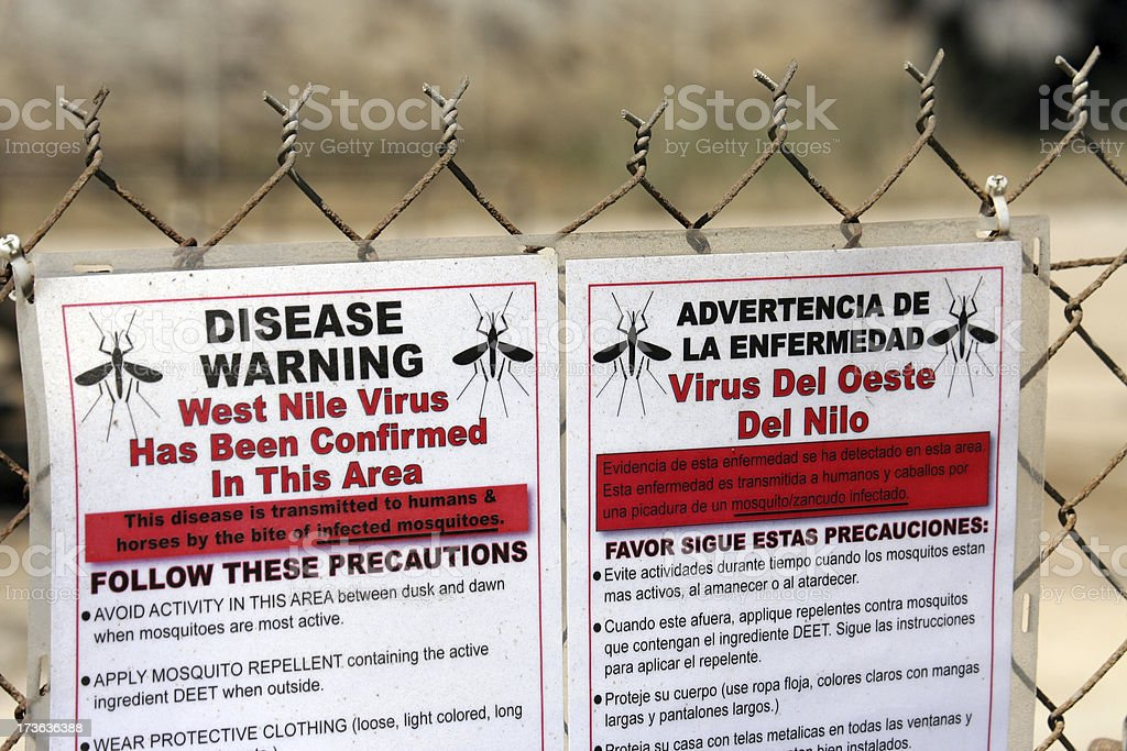 West Nile Warning stock photo