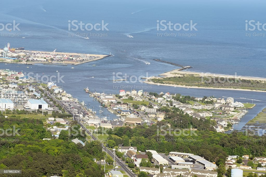West Ocean City Harbor and Inlet stock photo