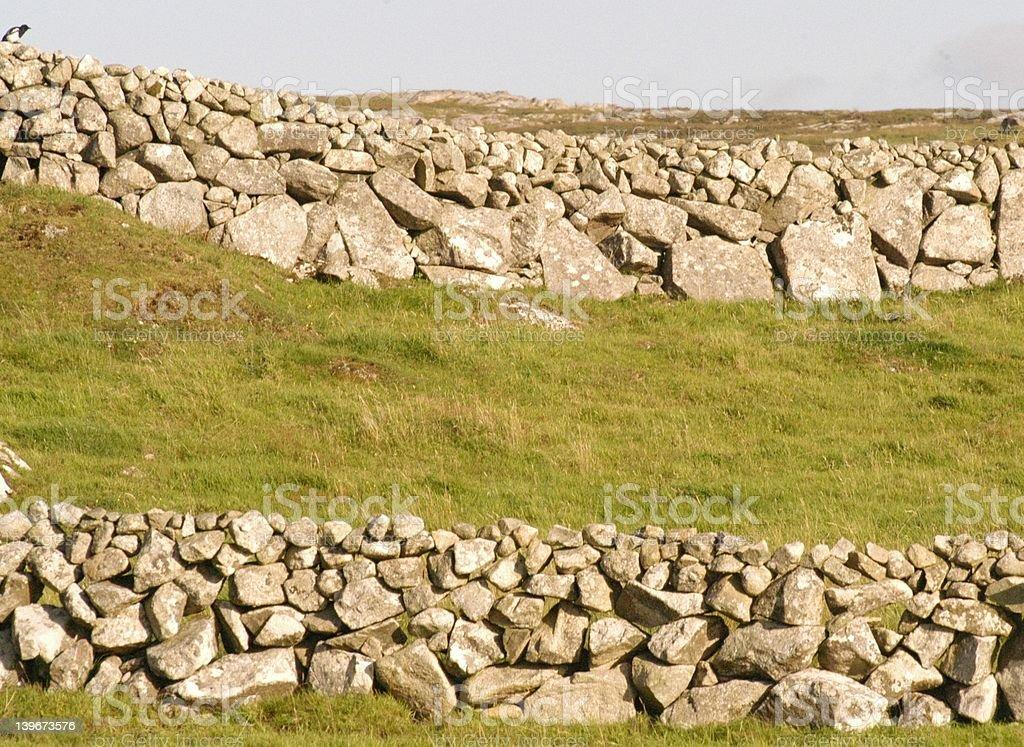 West of Ireland Stonewalls stock photo