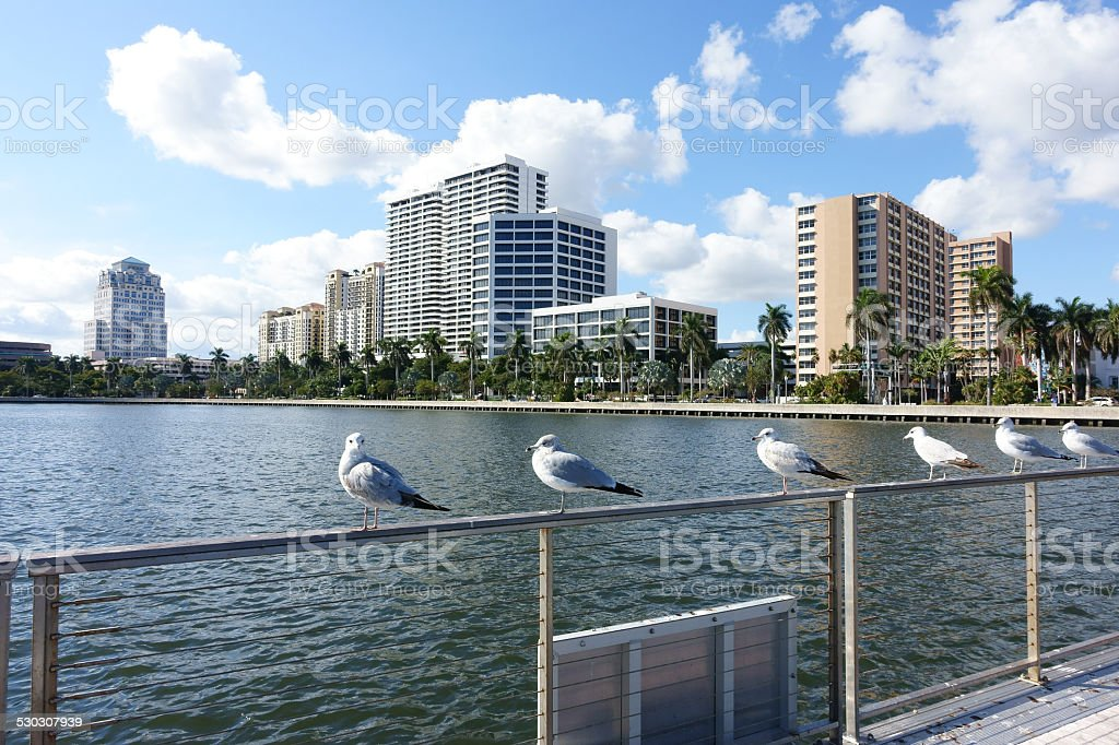West Palm Beach cityscape stock photo
