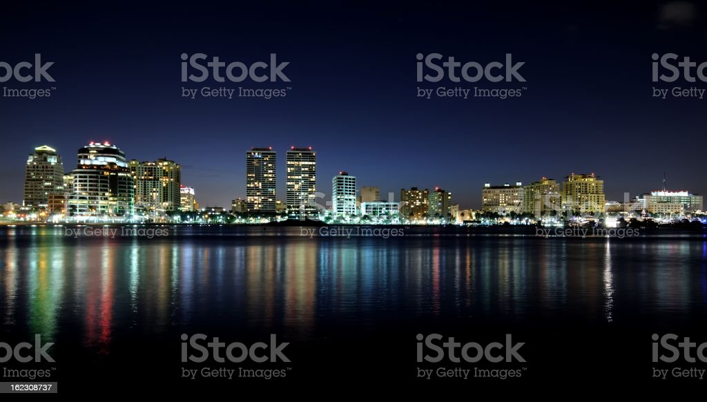 West Palm Beach, Florida skyline stock photo