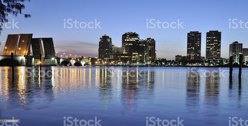 West Palm Beach , Florida skyline stock photo