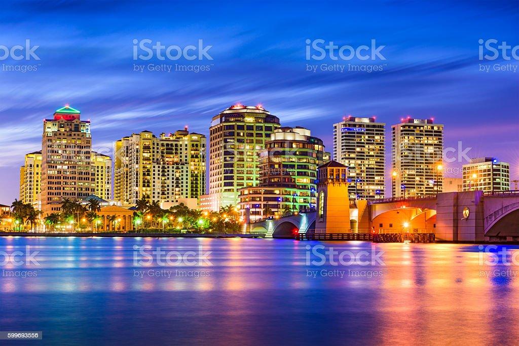 West Palm Beach Florida Skyline stock photo