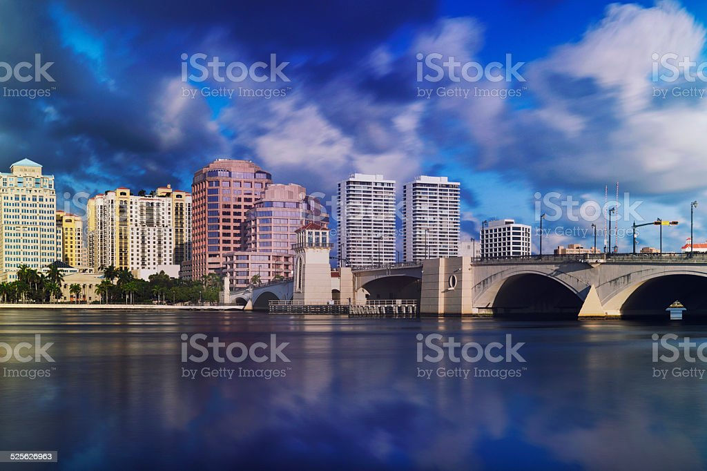 West Palm Beach Skyline stock photo