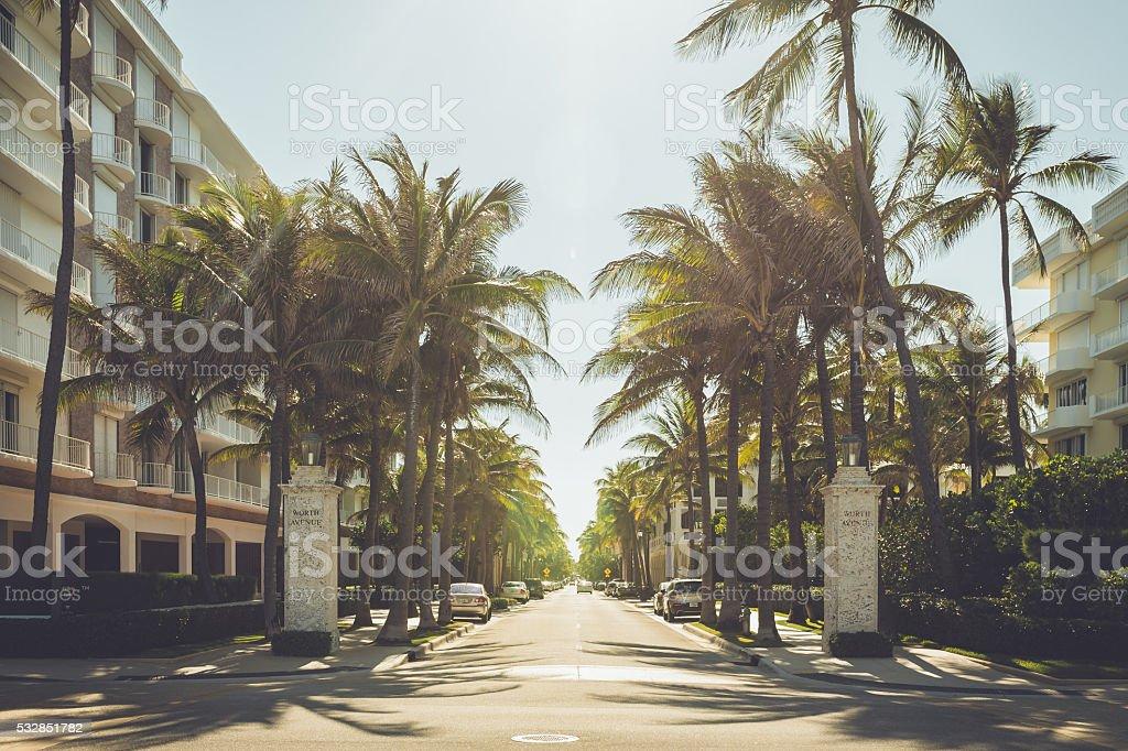 West Palm Beach Street stock photo