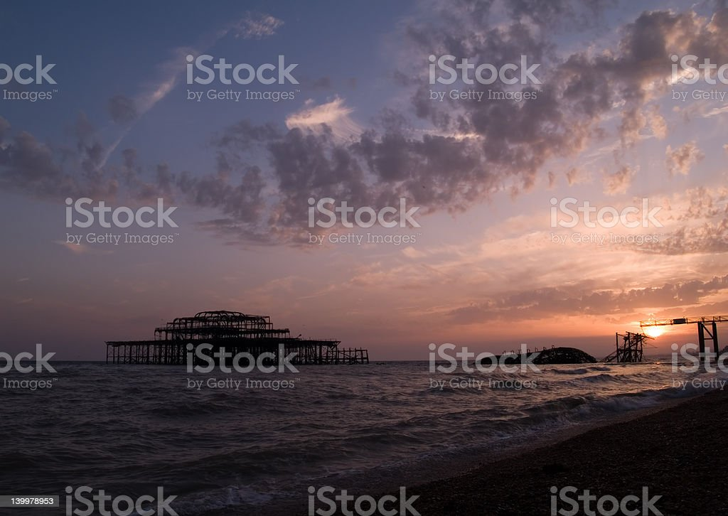 West Pier at sunset royalty-free stock photo