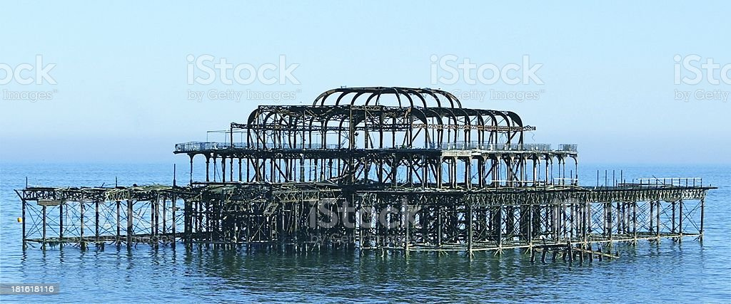 West Pier Brighton royalty-free stock photo