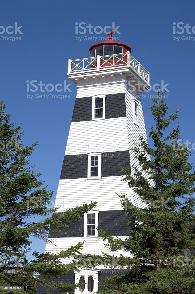 West Point Lighthouse on PEI royalty-free stock photo