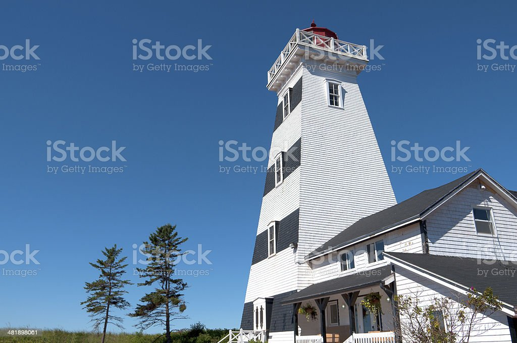 West Point Lighthouse on Prince Edward Island, Canada royalty-free stock photo