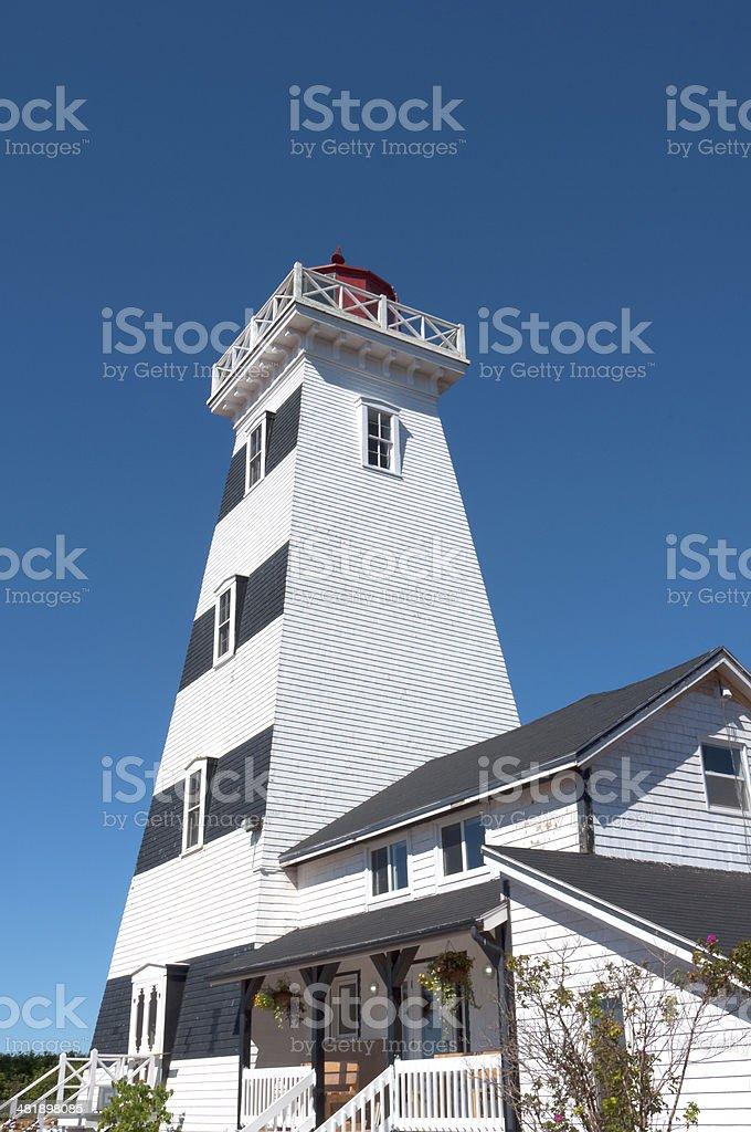 West Point Lighthouse on Prince Edward Island, Canada. royalty-free stock photo