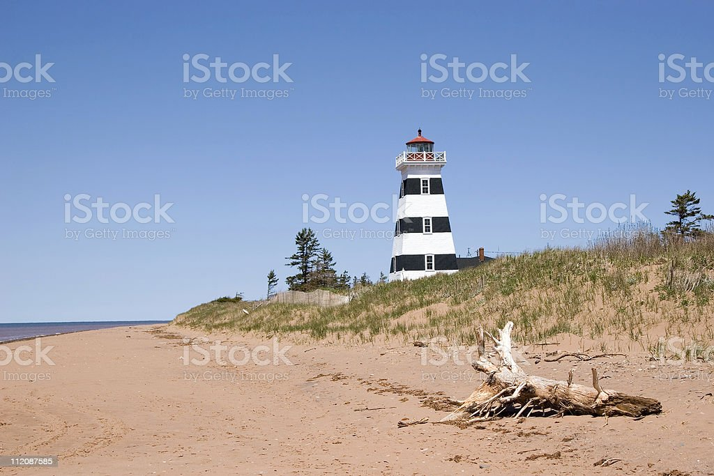 West Point Lighthouse royalty-free stock photo