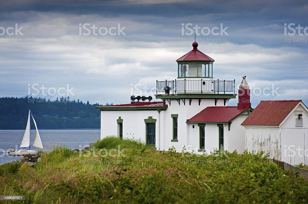 West Point Lighthouse. stock photo