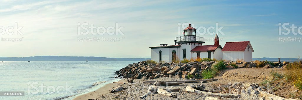 West point lighthouse stock photo