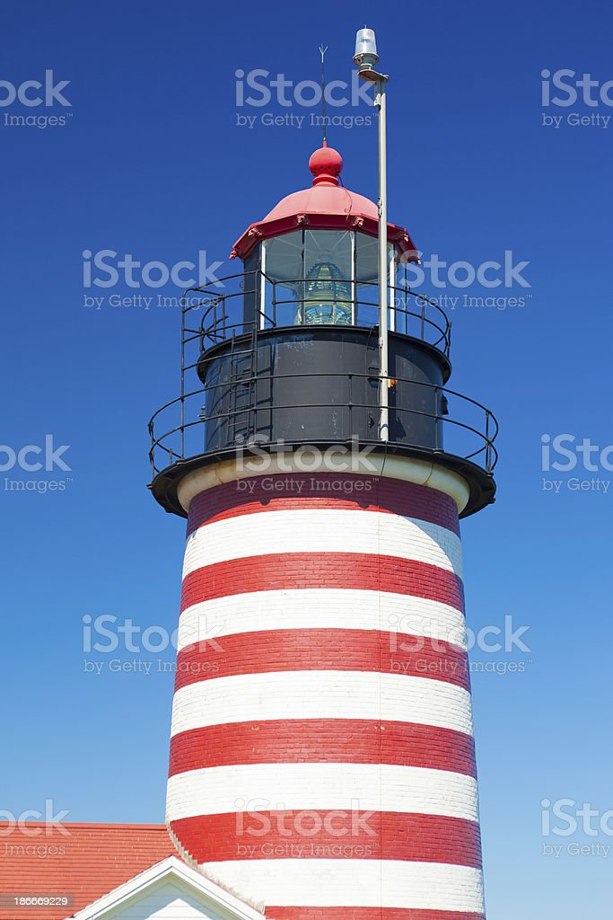 West Quoddy Head Light In Maine royalty-free stock photo