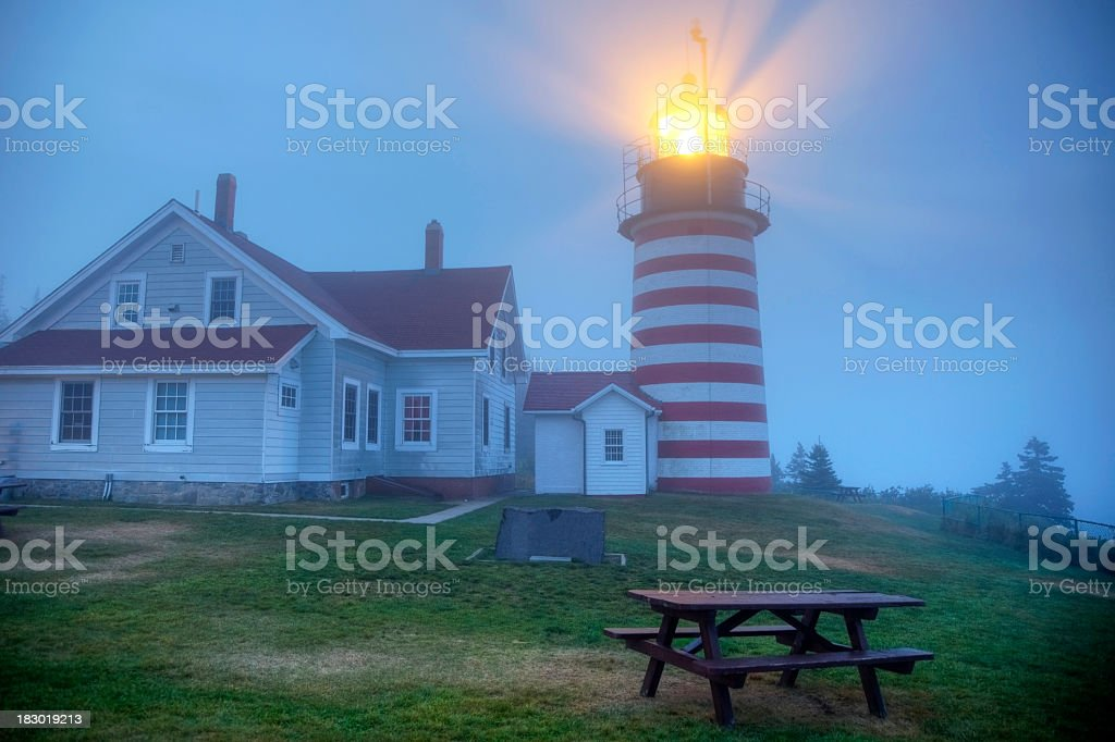 West Quoddy Lighthouse royalty-free stock photo
