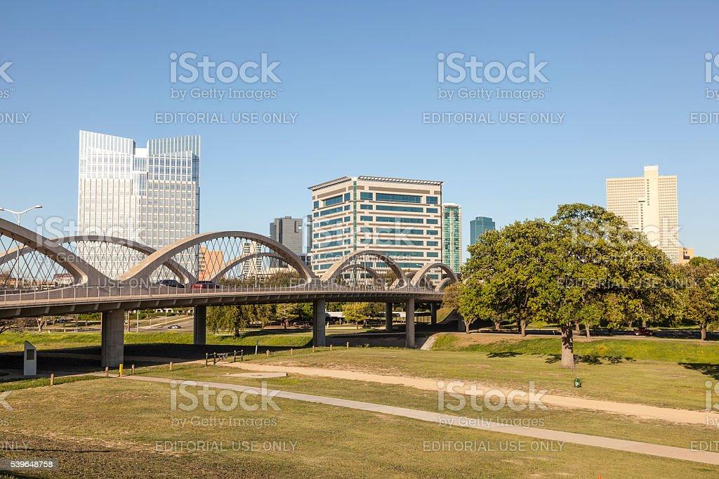 West Seventh Street Bridge in Fort Worth stock photo