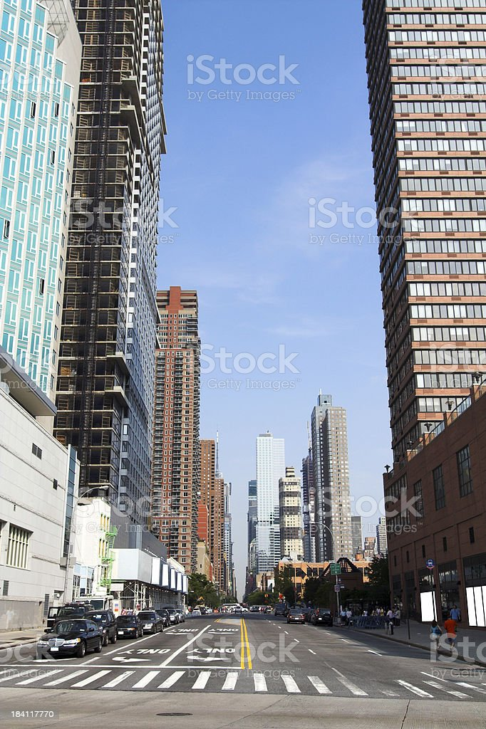 West Side Manhattan royalty-free stock photo