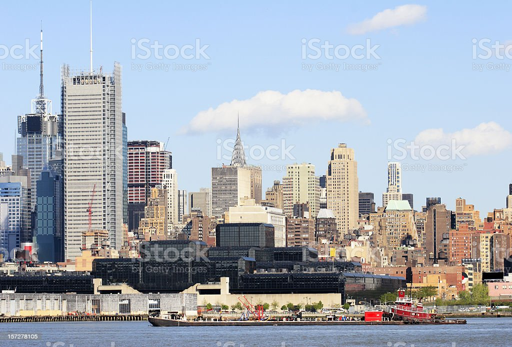 West Side of Manhattan across Hudson River royalty-free stock photo